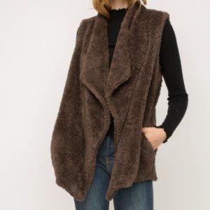 Cozy Sherpa Fully Lined Vest by Mystree w/ POCKETS